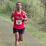 On the course of the ORRC Vernonia Marathon, April 2017. This picture was taken early in the race, so I still look optimistic.