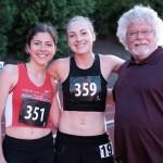Corrina, Josie, and Coach Rick Lovett after a pre-COVID track meet