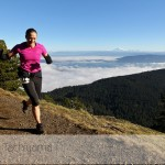 Elle at the top of Mt Constitution in the 2014 Orcas Island 25k