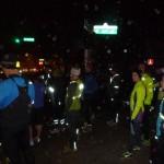 Reflective gear on a rainy winter run
