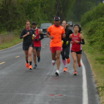All runners in this photo were vaccinated