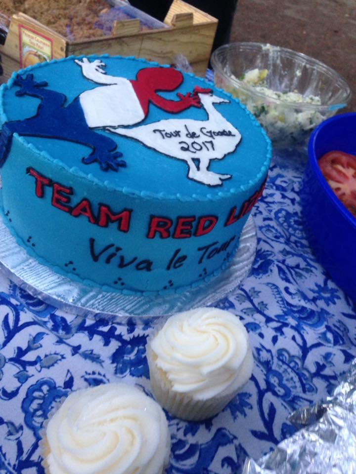 Tour de Goose cake