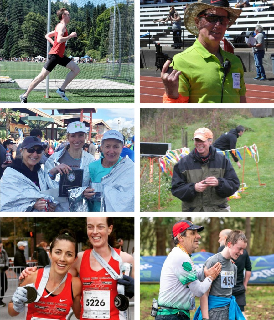 Clockwise from top right: Mark Mochon, Jeff Malmquist, Gregg LeBlanc, Valerie Weilert (with Carre Heineck), Betty Wagner (with Joanna Harper and Jeannie Groetz), and Chris Platt